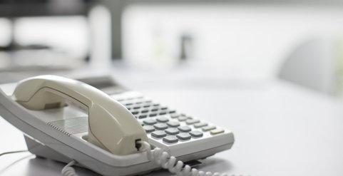 フロントへの内線電話