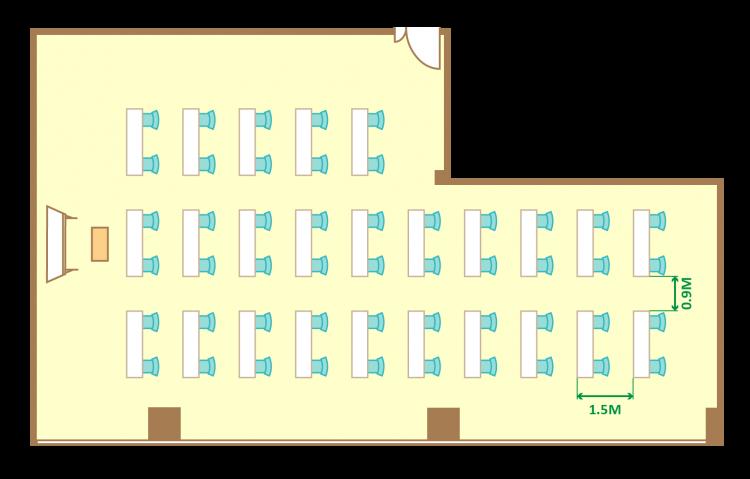 2名掛ゆとりスクール(50席)
