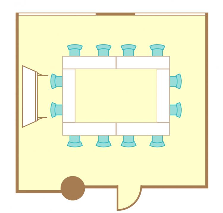2名掛ロの字(12席)