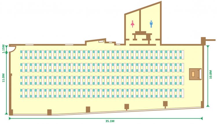 2名掛スクール(272席)