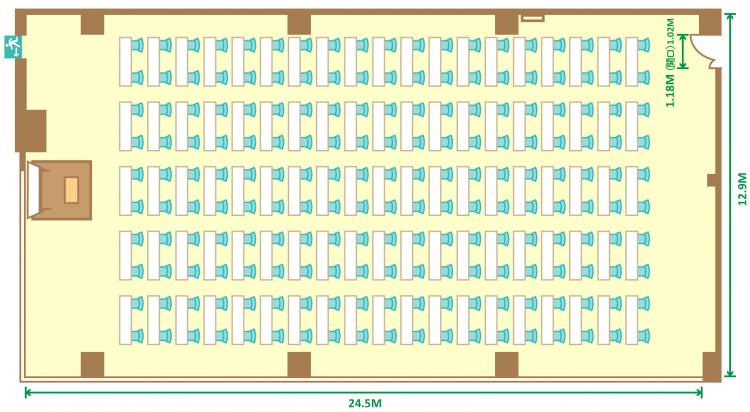 2名掛スクール(190席)