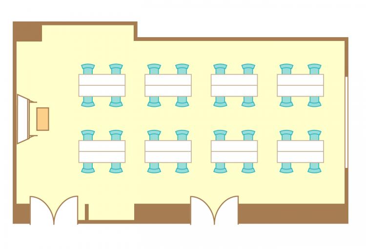 島型(4名8島)