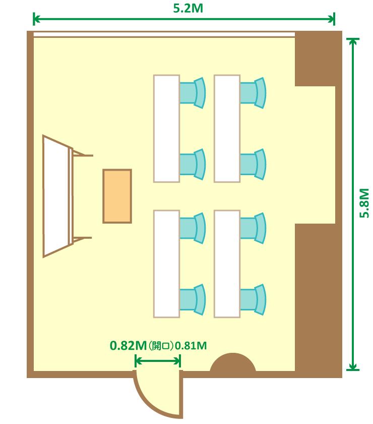 2名掛スクール(8席)