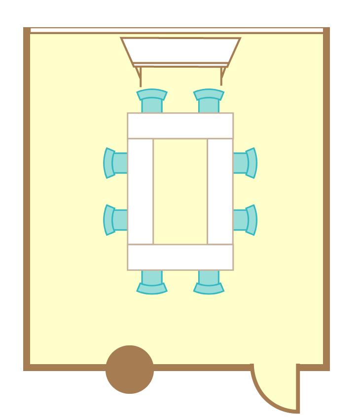 2名掛ロの字(8席)