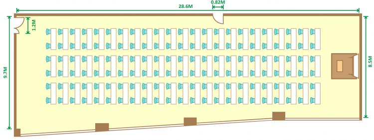 2名掛スクール(138席)