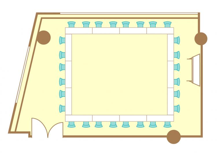 2名掛ロの字(28席)