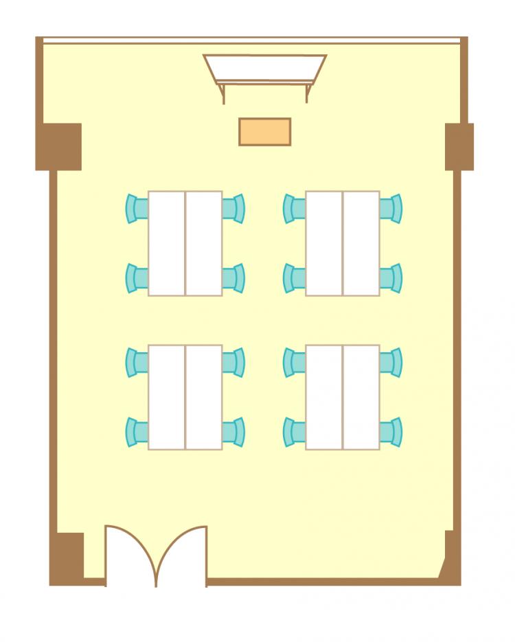 島型(4名4島)