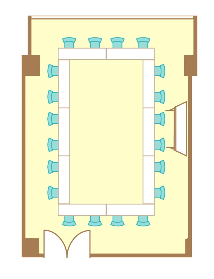 2名掛ロの字(20席)