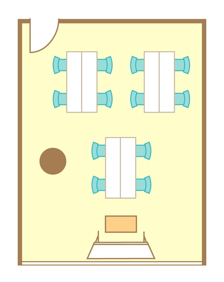 島型(4名3島)