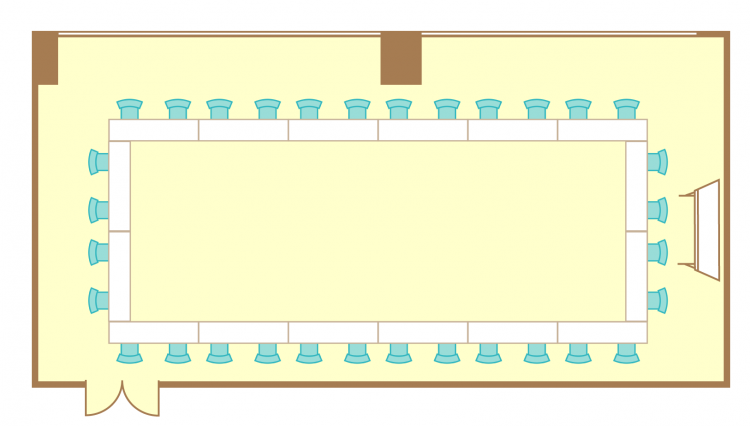 2名掛ロの字(32席)