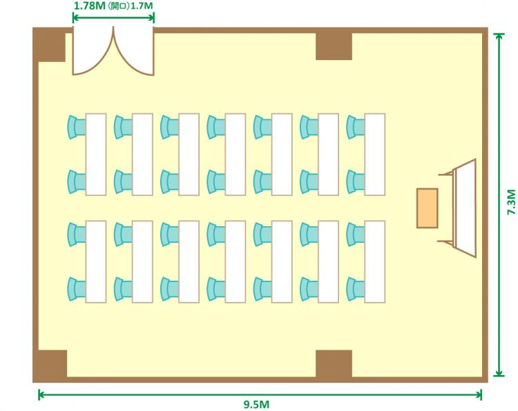 2名掛スクール(28席)