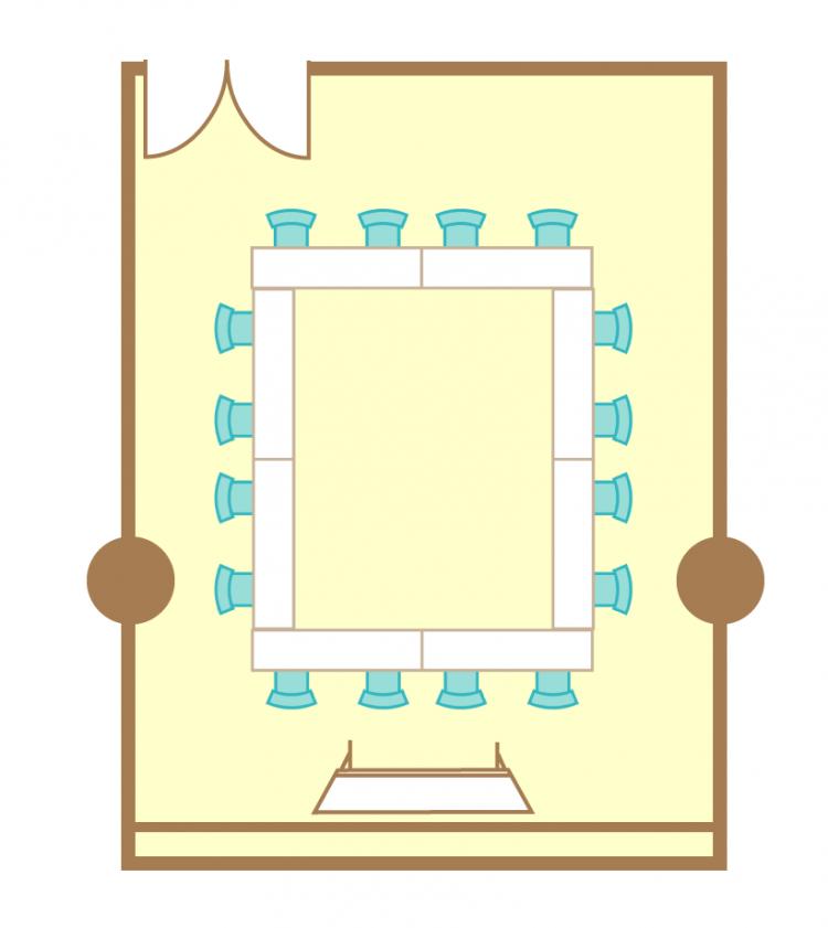 2名掛ロの字(16席)