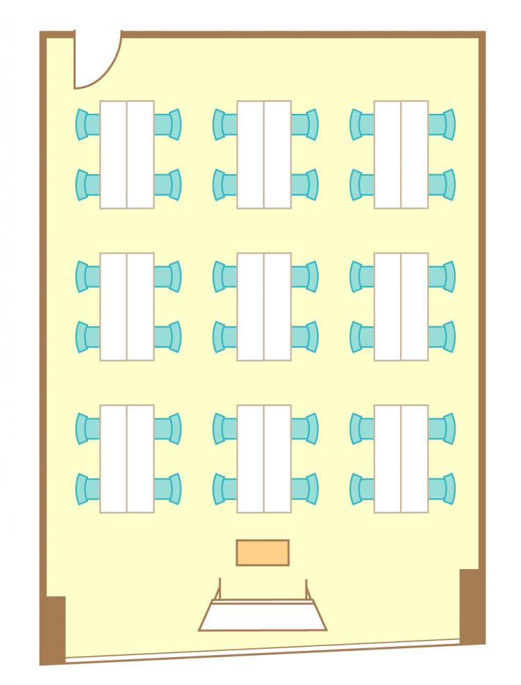 島型(4名9島)