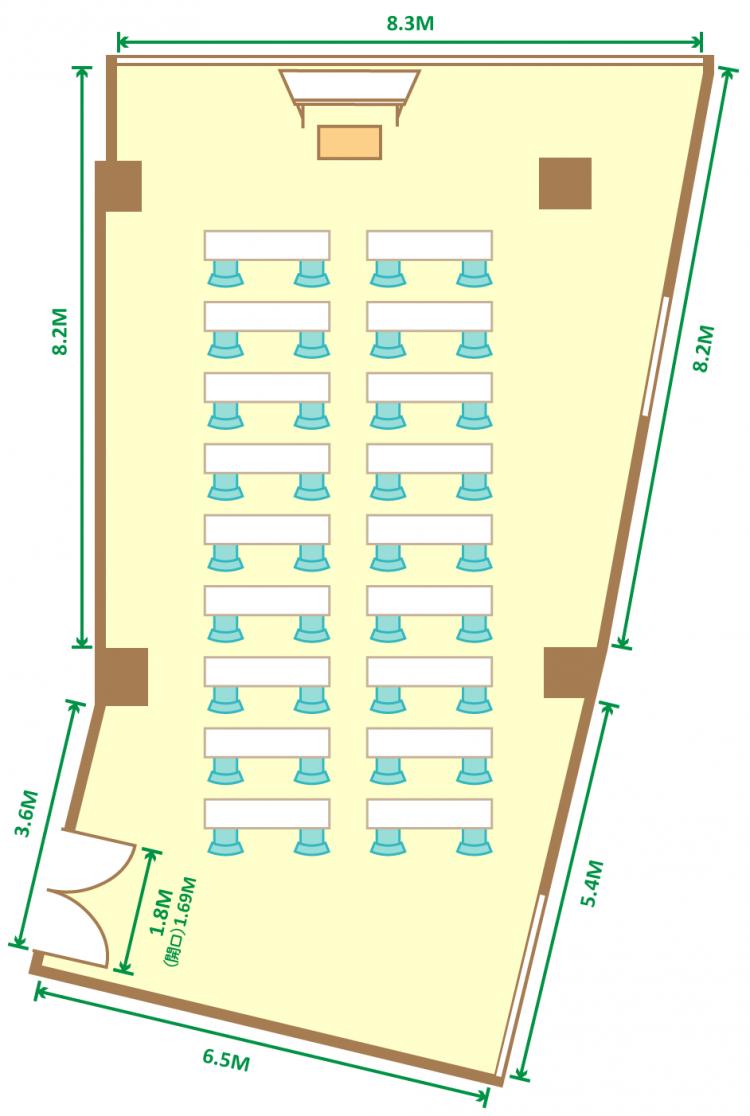 2名掛スクール(36席)