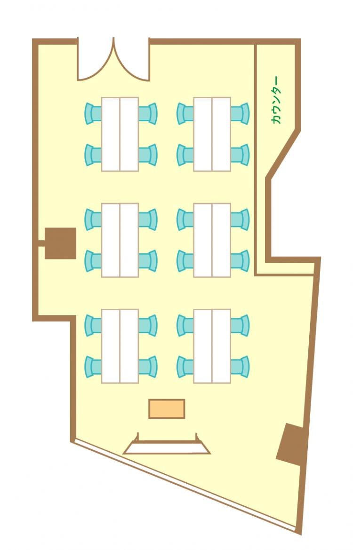 島型(4名6島)