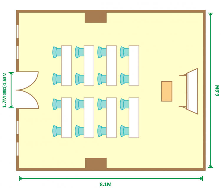 2名掛スクール(16席)