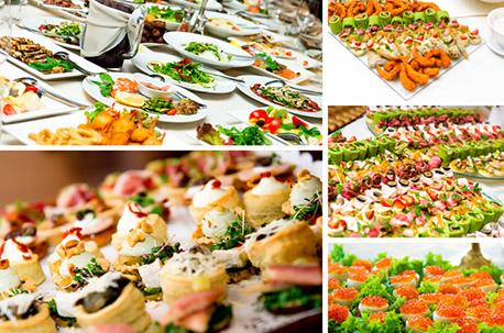 パーティの内容、予算に応じてバラエティ豊富なプランからお食事を選ぶことが可能