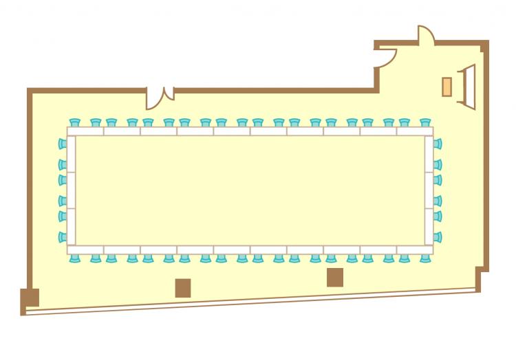 2名掛ロの字(52席)